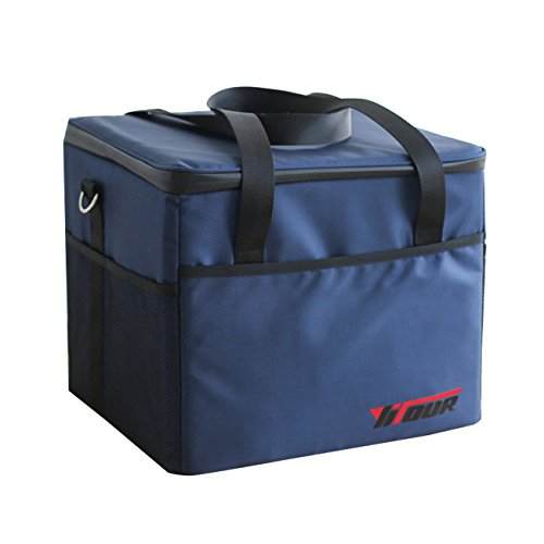 Vinerstar Large Capacity Lunch Box Insulated,Lunch Tote Bag,Cooler Tote Bag for Outdoors 37L,(Navy Blue) (Insulated Plastic Liner)