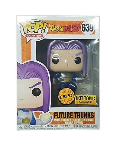Funko Pop! Dragonball Z Future Trunks Metallic Chase 639 Hot Topic Exclusive Vinytl Figure
