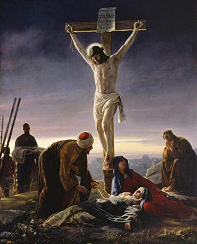 - Photo Jesus Christ on Cross 8 x 10 Glossy Picture Image #1