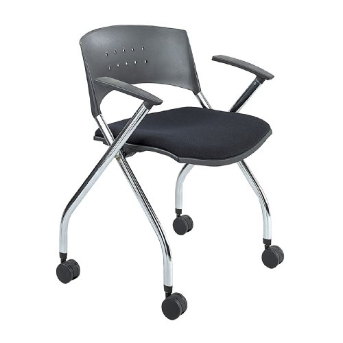 (Safco Products 3481BL xtc. Upholstered Nesting Chair, Black)