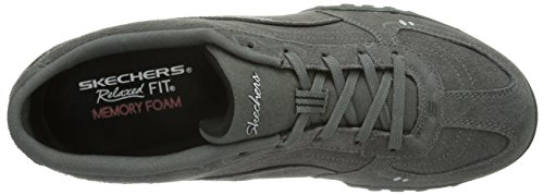 Skechers Breathe-Easy - zapatilla deportiva de piel mujer gris - Grau (GYBK)