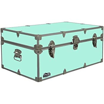 Happy camper footlocker camp trunk cn 1104 v3 available in vibrant colors 32 x 18 x 13 5 inches
