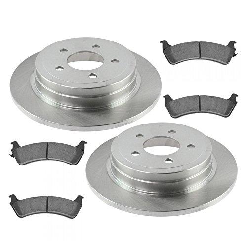 Rear Premium Posi Ceramic Disc Brake Pads & Rotor Kit for Ford Explorer Sport