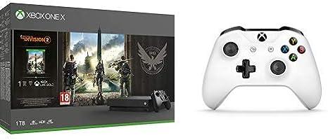Microsoft Xbox One X - Consola 1 TB + División 2 + Microsoft - Mando Inalámbrico: Amazon.es: Videojuegos