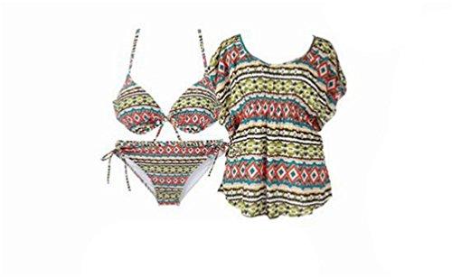 Strisce bikini spiaggia delle donne per luna di miele
