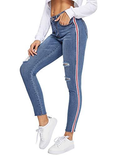 side ripped leggings - 8