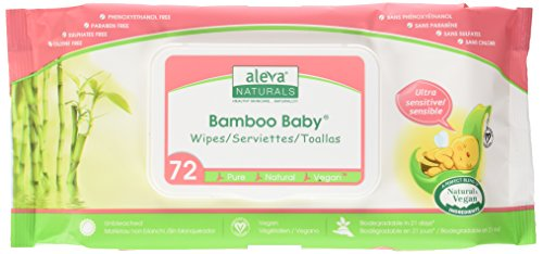 Aleva Naturals Bamboo Baby Wipes, Sensitive, 72 Count (Pack of 6) - Aleva Naturals