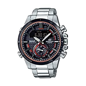 Casio Men's Edifice Quartz Watch with Stainless-Steel Strap, Silver, 22 (Model: ECB-800DB-1ACF) 4