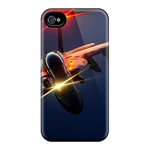 Premium Tpu Fighter Plane Refuel Cover Skin For Iphone 4/4s