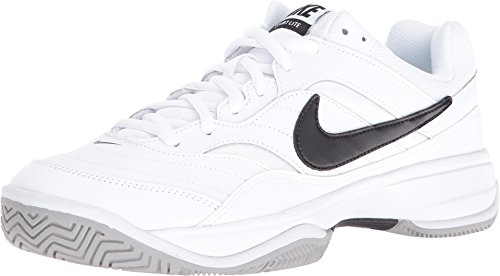 - Nike Men's Court Lite (Wide) Tennis Shoe (13 E US, White/Black/Medium Grey)