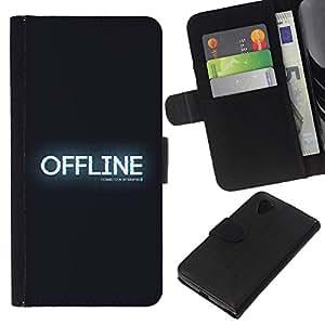 OFFLINE - la tarjeta de Crédito Slots PU Funda de cuero Monedero caso cubierta de piel LG Nexus 5 D820 D821