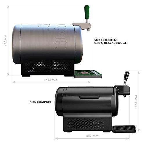 Pack Heineken THE SUB | Tirador de cerveza de barril THE SUB Heineken Edition + 2 TORP Cruzcampo Especial barril de cerveza de 2 litros: Amazon.es: Hogar