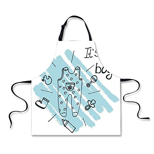 iPrint Cooking Apron,Gender Reveal,Its Boy Quote Clothes Par