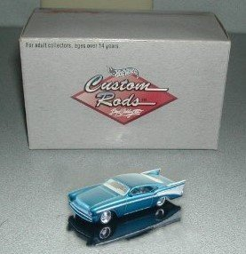 57 Chevy Hot Rod (Hot Wheels - Custom Rods - Boyd Coddington Series - CheZoom ['57 Chevy] - 1:64 Scale Limited Edition Collector Car Replica. Metalflake Turquoise Body Color)
