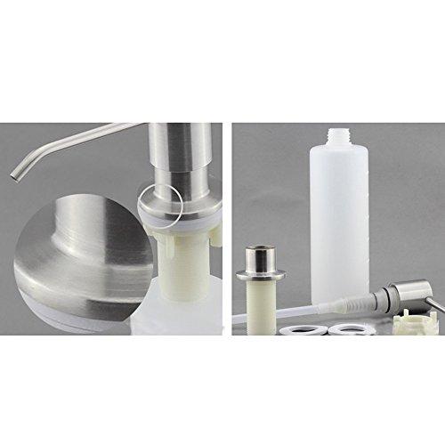 Abbto built in sink soap dispenser top refill stainless - Built in soap dispenser in bathroom ...
