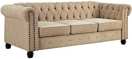 Furniture of America Gabby Traditional Nailhead Trim Fabric Sofa