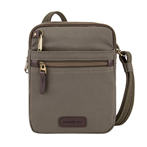Travelon: Anti-Theft Courier Small N/s Slim Travel Bag – Stone Gray