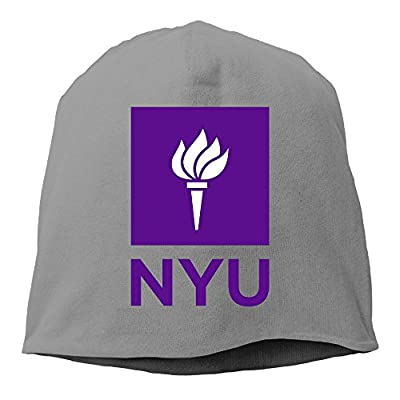 YUVIA New York University NYU Men's&Women's Patch Beanie LeisureDeepHeather Caps For Autumn And Winter