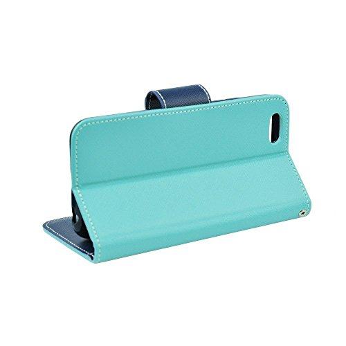 'étui Turquoise Rabat De Pour Portefeuille Galaxy Protection Housse Book A3 2016 Samsung nbsp;a310 bleu Case nbsp;f À Latéral Élégant Coque Cover rwrHqdI8