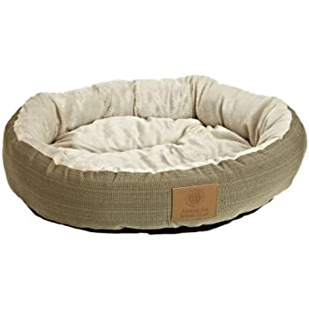Amazon.com : AKC Casablanca Round Solid Pet Bed : Dog Bed