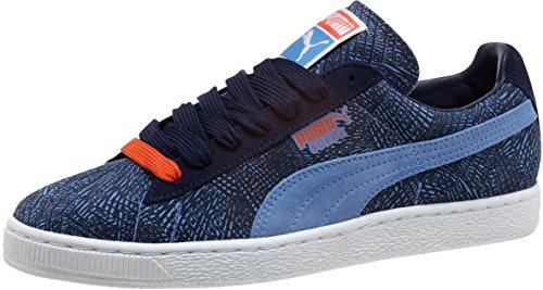 Puma Mens Mis-match Mocka Vrist-high Fashion Sneaker Liten Pojke Blå / Peacoat / Blå