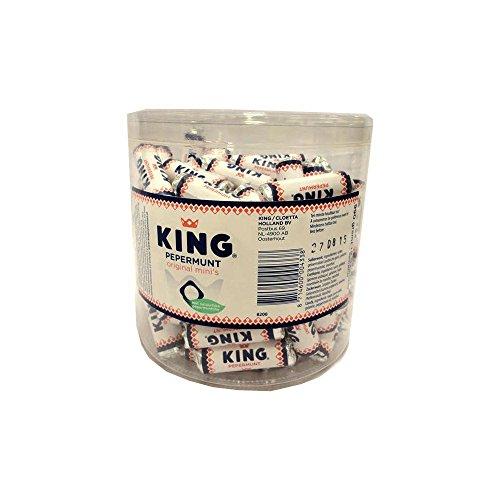 (King Mini Pepermunt Case (110 Rolls)[Natuurzuiver]Pastilles a la menthe/peppermint)