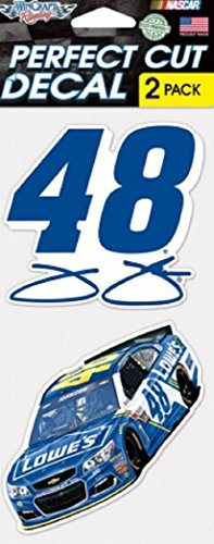"NASCAR Jimmie Johnson Perfect Cut Decal (Set of 2), 4"" x 4"""