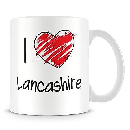 I Love Lancashire Personalised Mug – Add Photo – Customised Cup Gift 41 2B6F9e3k5L