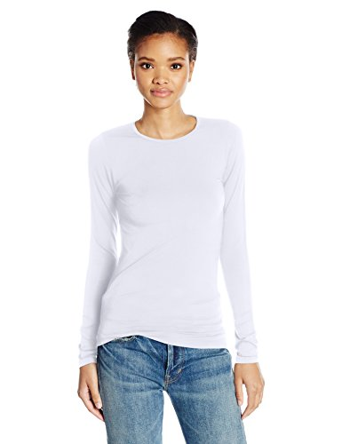 Majestic Filatures Women's Ally Long Sleeve Crew Neck Tee, White, 2 from Majestic Filatures