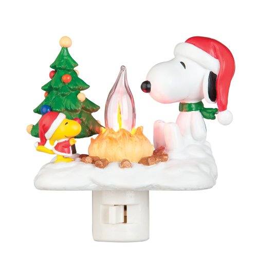 Peanuts 4-1/4-Inch Snoopy and Woodstock at Campfire Nightlight (165013)