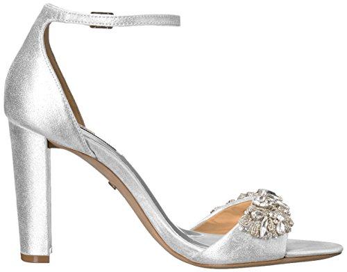 newest Badgley Mischka Women's barby Dress Sandal Silver Inexpensive iqElRTGd