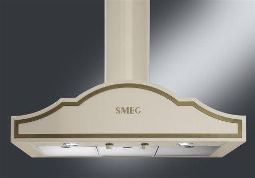 Smeg KC90PO - Campana (730 m³/h, Recirculación, 67 dB, 44 dB, 55 dB, De pared): Amazon.es: Hogar