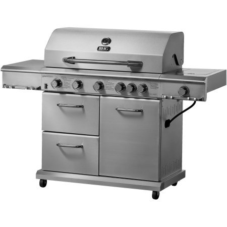 Better Homes and Gardens 6-Burner Gas Grill, Stainless Steel Blue Rhino Global Sourcing