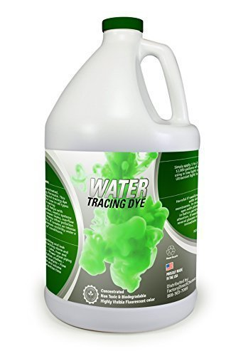 Green Water Tracing & Leak Detection Flourescent Dye - 1 Gallon by EcoClean ()