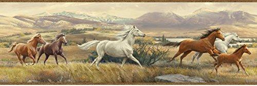 - Chesapeake HTM48482B Swift Sand Open Range Horses Portrait Wallpaper Border