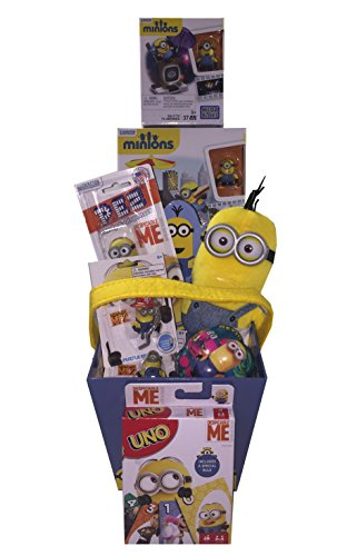 Despicable Me Minion Madness Gift Basket with Uno ideas for Easter, Birthday, Get Well or Just - Mail Sunglasses Order
