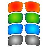 ACOMPATIBLE 4 Pair Replacement Polarized Lenses for Oakley Flak 2.0 XL Sunglasses Pack P4