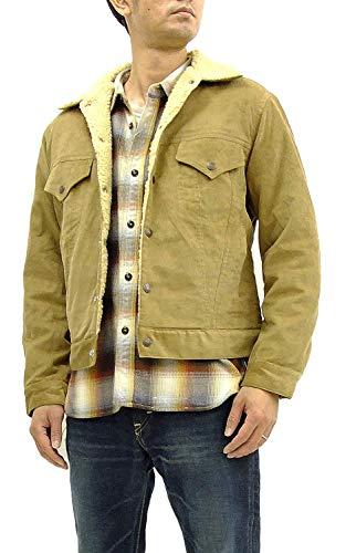 (Sugar Cane Men's Corduroy Sherpa Jacket Western Rancher Short Jacket SC13940 Beige US XL (UK 42) )