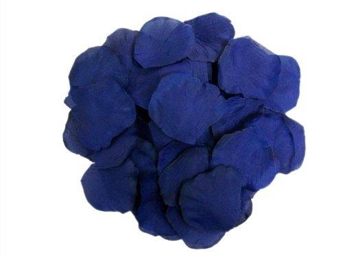 Tinkmax 2000pcs Wedding Decoration Silk Rose Petals Large Supply Wedding Party Decoration Navy Blue