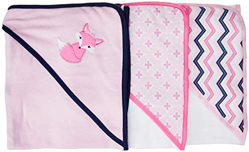 Luvable Friends 3 Piece Hooded Towels, Foxy by Luvable Friends
