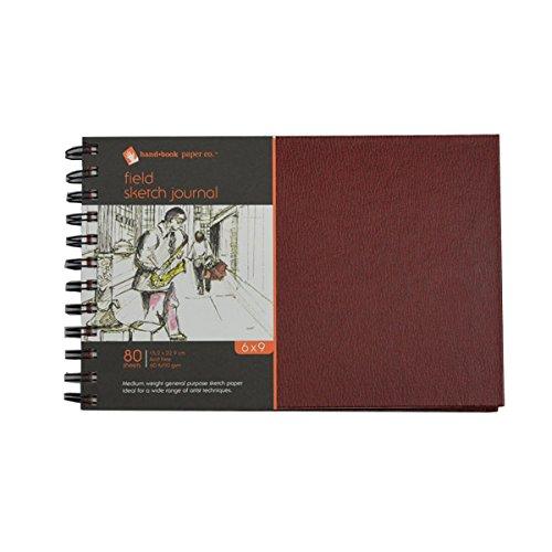 Global Art Materials 790069 Field Sketch Artist Journal Hardcover Drawing Paper Book 6