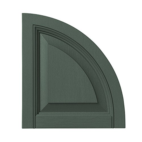 Arch Raised Panel - Ply Gem Shutters and Accents ARCH15RP 55 Raised Panel Arch Top, 15