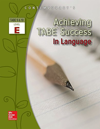Achieving TABE Success In Language, Level E Workbook (Achieving TABE Success for TABE 9 & 10)