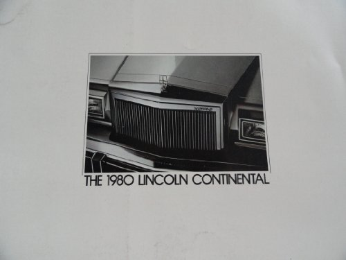 1980 Lincoln Continental Sales Brochure
