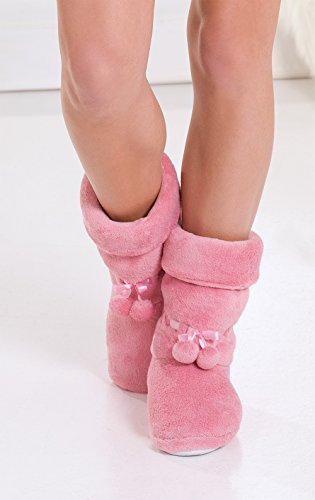 fa8acd98b PajamaGram Fleece Slippers for Women Slipper Boots for Women ...