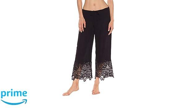 b063e19b9d ISABELLA ROSE Women's Home Spun Lace Pants Swim Cover Up at Amazon Women's  Clothing store: