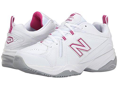 に渡って分類溶岩(ニューバランス) New Balance レディーストレーニング?競技用シューズ?靴 WX608v4 White/Pink 10 (27cm) 2A - Narrow