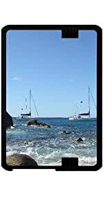 "Funda para Kindle Fire HD 7"" (2012 Version) - Barcos De Vela Caribe"