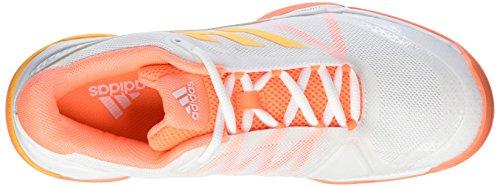 adidas Barricade Club, Zapatillas de Tenis para Hombre Blanco (Ftwr White/solar Gold/glow Orange S14)