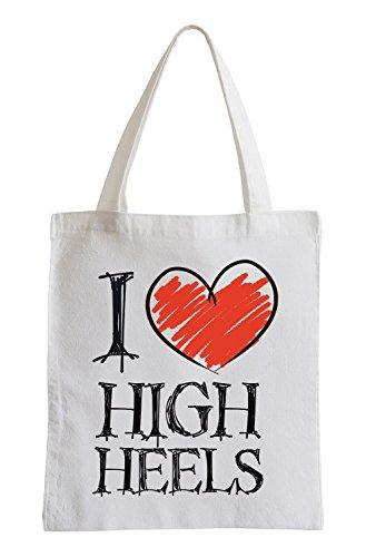 Amo i tacchi Fun sacchetto di iuta